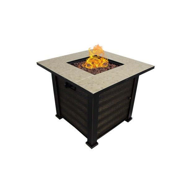 Shop White Haven Porcelain Fire Pit Table Free Shipping Today