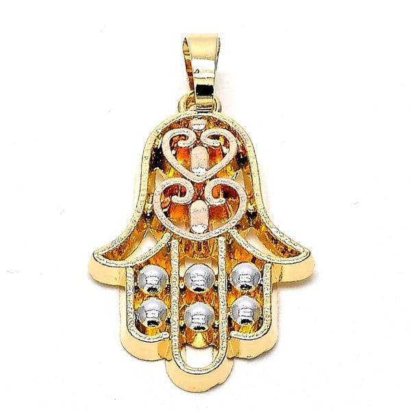 Religious pendant hand of god design finish tri tone 18ktated religious pendant hand of god design finish tri tone 18ktated 93467 aloadofball Choice Image