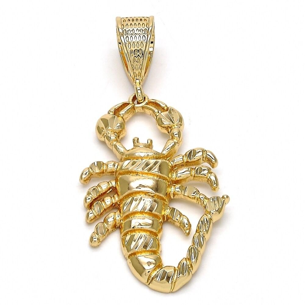Fancy Pendant Scorpion Design Diamond Cutting 18kt.Plated...