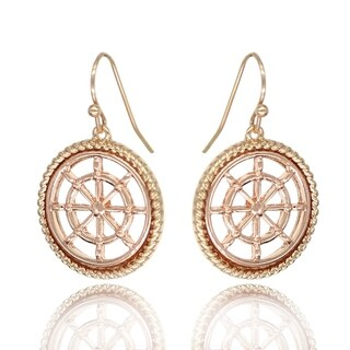 BeSheek Jewelry Goldtone, RoseGold and Silvertone Steering Wheel Fashion Earrings - hook