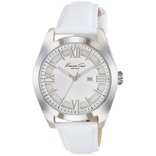 Kenneth Cole New York White Leather Ladies Watch 10021282