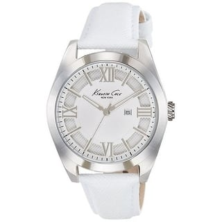 Kenneth Cole New York White Leather Ladies Watch 10021282 https://ak1.ostkcdn.com/images/products/17696096/P23902788.jpg?impolicy=medium