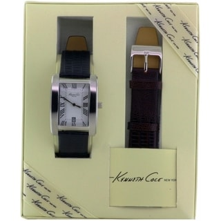 Kenneth Cole New York Double Leather Strap Set male Watch KC5174