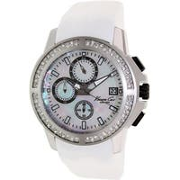 Kenneth Cole New York White Silicone Chronograph male Watch