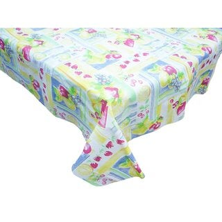 "J & M Home Fashions 7542 52"" X 70"" Just Picked Vinyl Tablecloth"