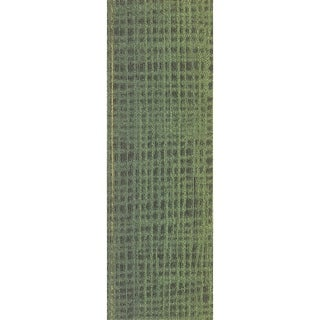"Mohawk Rumney 12"" x 36"" Carpet tile plank in GREENERY"