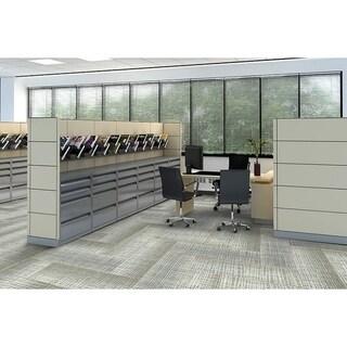 "Mohawk Rumney 12"" x 36"" Carpet tile plank in EVERGLADE"