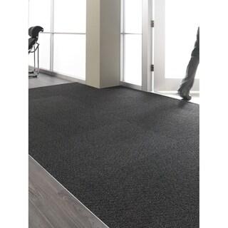 """Mohawk Barre 24"""" x 24"""" Carpet tile in OBSIDIAN"""