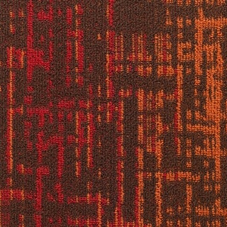 "Mohawk Haverill 24"" x 24"" Carpet tile in CAYENNE"