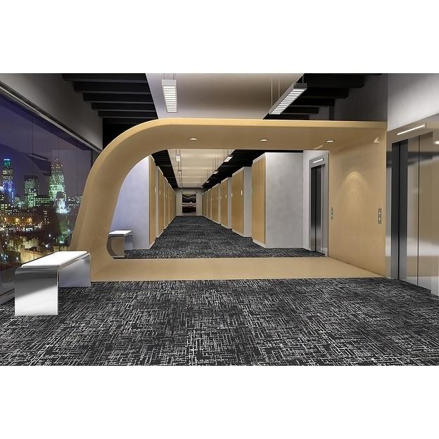 "MOHAWK Haverill 24"" x 24"" Carpet tile in Metro (White/Bla..."