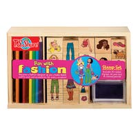 T.S. Shure Fun with Fashion Wooden Stamp Set