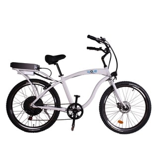 Wave Electric Bike Beach Cruiser - White