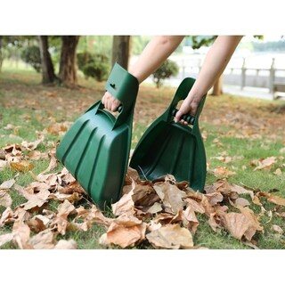 Pair of Large Leaf Scoops, Hand Rakes