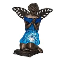 "8.5""H Praying Angel Accent Lamp - Matte Royal Blue"