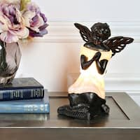 "8.5""H Praying Angel Accent Lamp - Matte White"