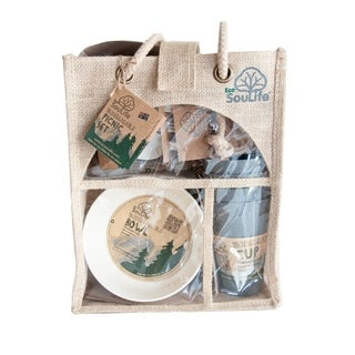 EcoSouLife Bamboo - Picnic Set for 4, Swiss Alps