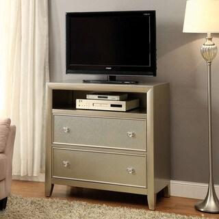 Furniture of America Merria Contemporary Silver 2-drawer Media Chest