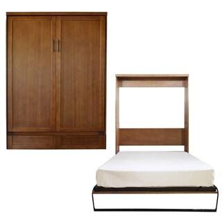 Queen Andrew Murphy Bed in Chestnut Finish