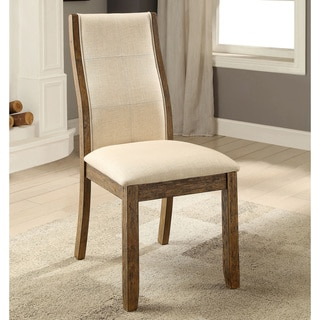 """Furniture of America Femm Contemporary Oak Dining Chairs Set of 2 - 19""""w x 25 1/2""""d x 39 1/2""""h"""
