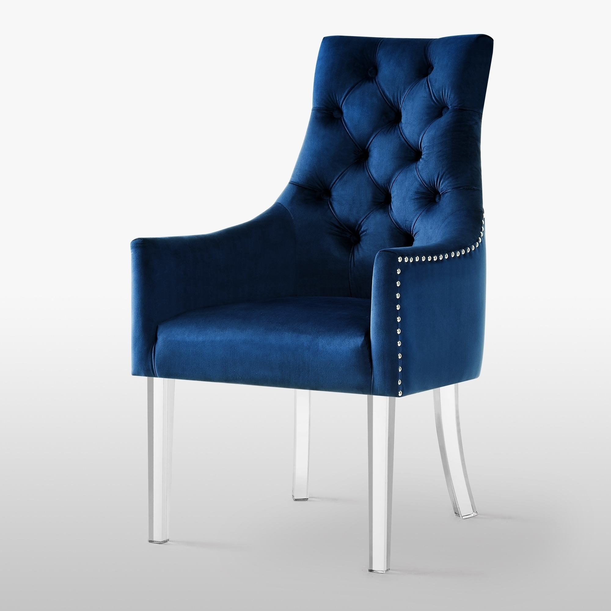 Blue Velvet Kitchen Dining Room Chairs Online At Our Best Bar Furniture Deals
