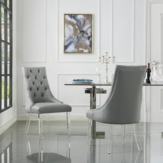 Judy Button Tufted Armless Dining Chair Set of 2
