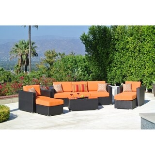 8pc Sonoma Resin Wicker Outdoor Patio Furniture Seating Group.
