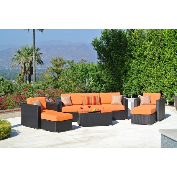 8pc Sonoma Resin Wicker Outdoor Patio Furniture Seating Group