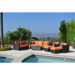 10pc Sonoma Resin Wicker Outdoor Patio Furniture Seating Group.