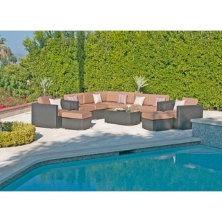 11pc Sonoma Resin Wicker Outdoor Patio Furniture Sectional. (Option: Teak)