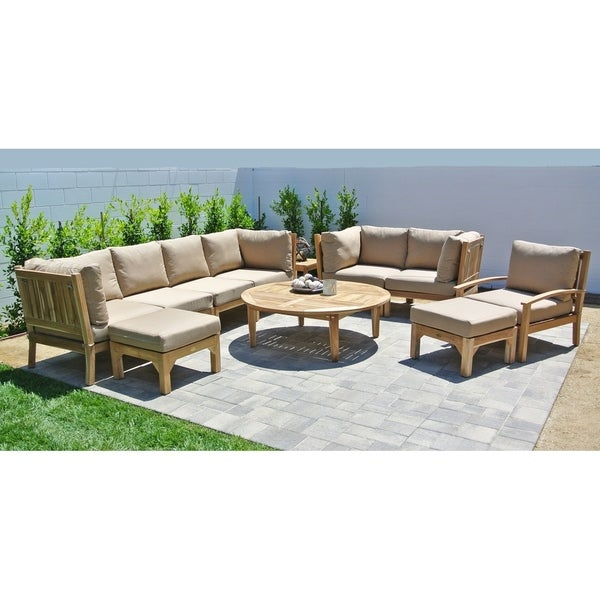 Shop 11pc Huntington Teak Outdoor Patio Furniture Deep Seating Set