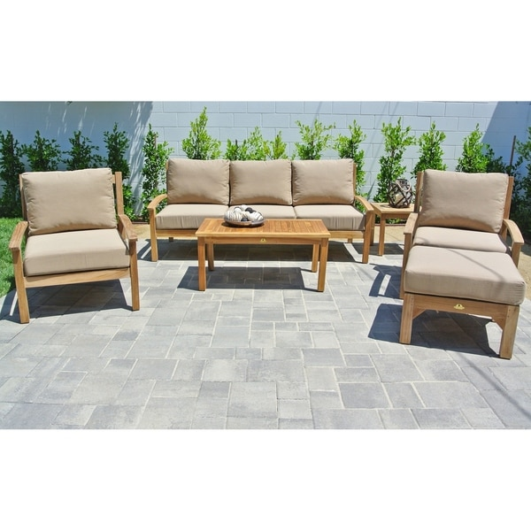 Shop 6 Pc Huntington Teak Outdoor Patio Furniture Deep