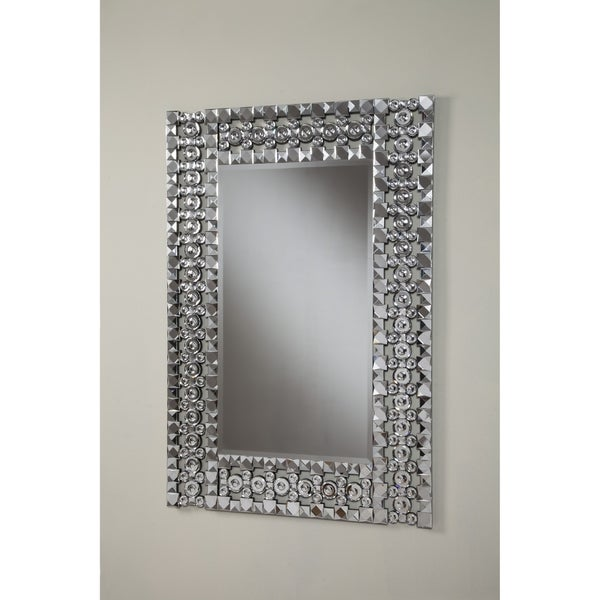 Floor Mirror Overstock >> Shop Best Quality Furniture Rectangle Crystal Wall Mirror ...