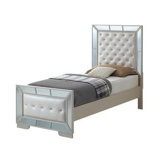 Lyke Home Wryn Mirror Trim Accent Twin Bed