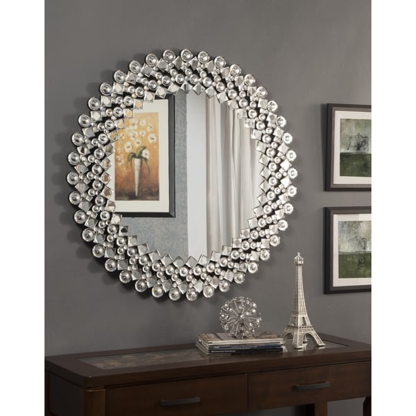 Shop Best Quality Furniture Circular Crystal Wall Mirror