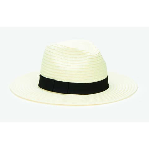 San Diego Hat Company/Four Buttons Collection/Fedora w/ bow- ivory