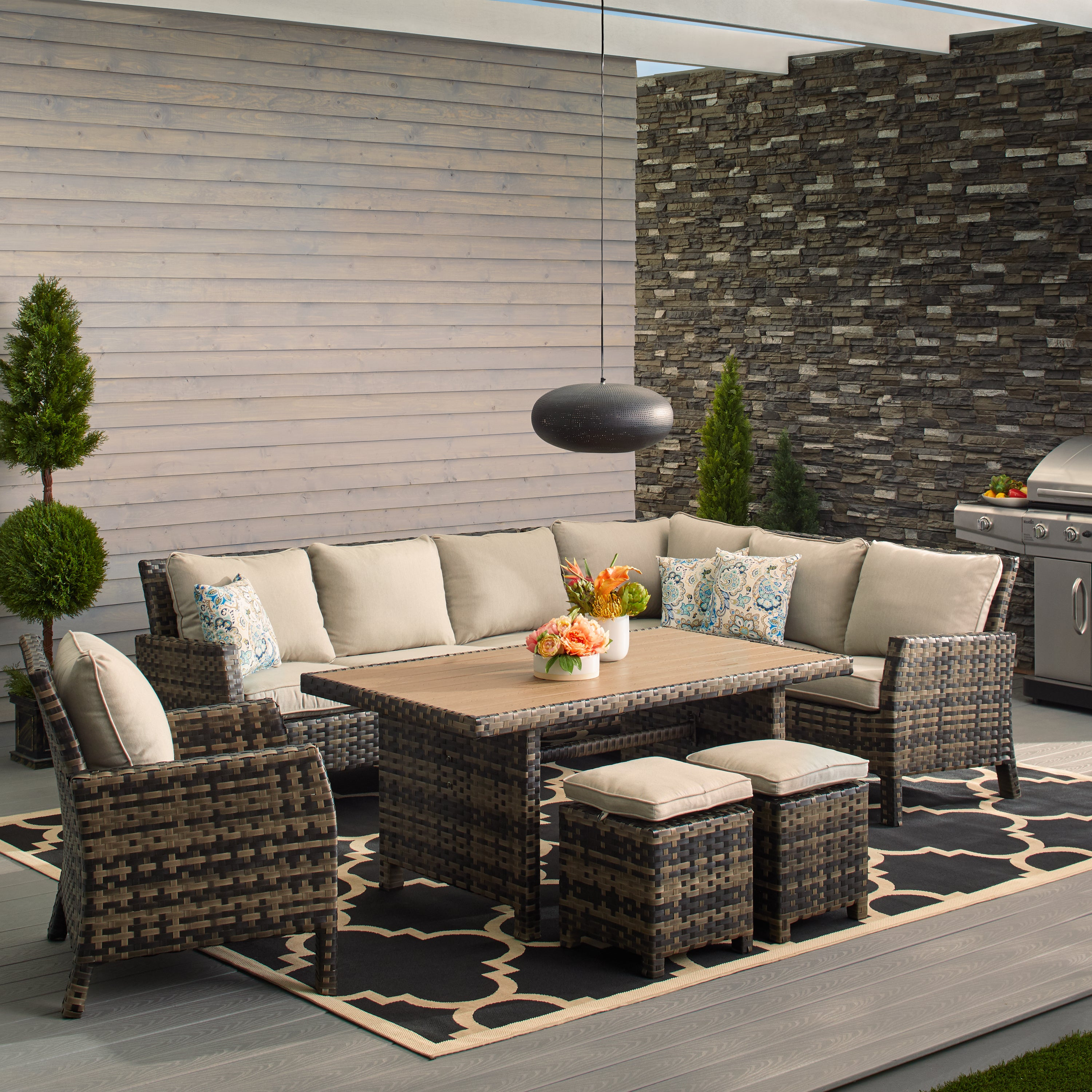 Buy outdoor dining sets online at overstock com our best patio furniture deals