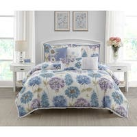 Wonder Home Fleur 7PC Cotton Printed Comforter Set