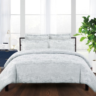 Sloane Cotton Blend Jacquard Weave Duvet Cover Set