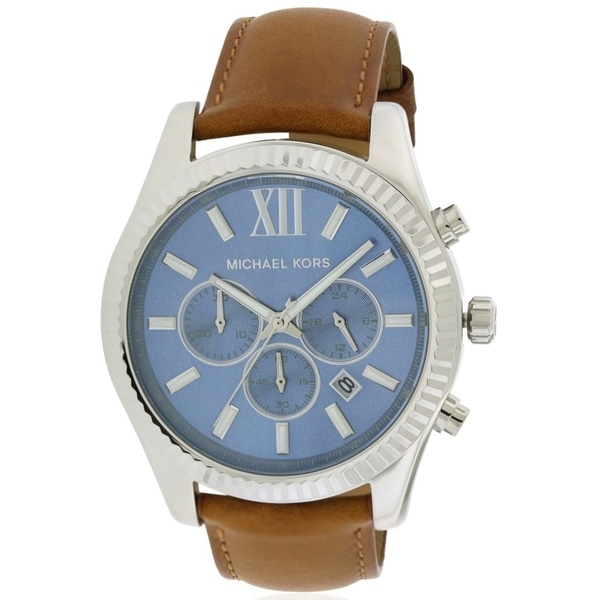 18a53f64db9b Shop Michael Kors Lexington Chronograph Leather male Watch MK8537 - Free  Shipping Today - Overstock - 17698266