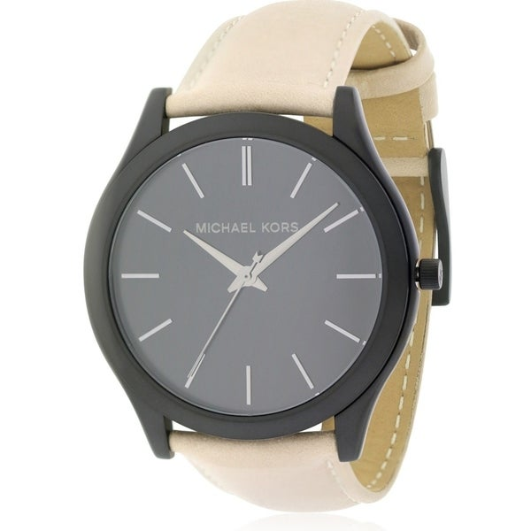 d4a87826d373 Shop Michael Kors Slim Runway Leather male Watch - Free Shipping Today -  Overstock.com - 17698270
