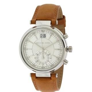 Michael Kors Sawyer Chronograph Leather Ladies Watch MK2527
