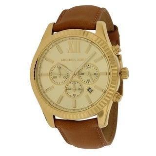 Michael Kors Lextington Leather Chronograph male Watch MK8447