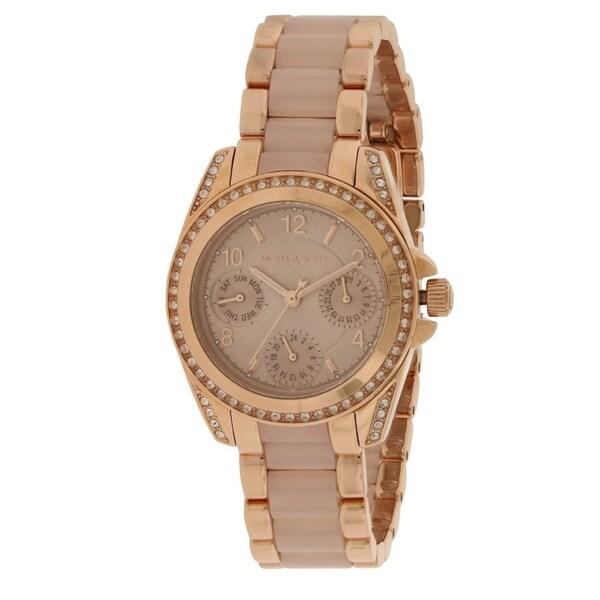 cf0025882b9c Shop Michael Kors Mini Blair Ladies Watch MK6175 - Free Shipping Today -  Overstock - 17698289