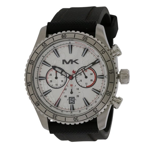 c251dd81cb13 Shop Michael Kors Richardson Silicone Chronograph male Watch MK8353 - Free  Shipping Today - Overstock - 17698295