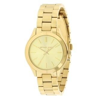 Michael Kors Mini Slim Runway Gold-Tone Ladies Watch MK3512