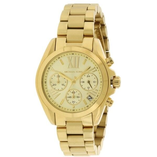 47870d53fa82 Shop Michael Kors Bradshaw Gold-Tone Chronograph Ladies Watch MK5798 - Free  Shipping Today - Overstock - 17698301