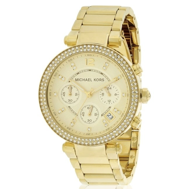 Michael Kors Crystal Chronograph Ladies Watch MK5354, Gol...