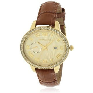 Michael Kors Whitley Brown Leather Ladies Watch