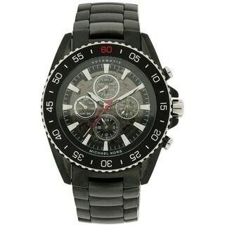 Michael Kors JetMaster Black Ion Automatic Chronograph male Watch MK9012