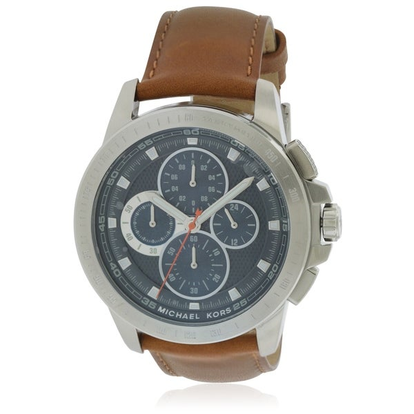 0b289393ae6b Shop Michael Kors Ryker Chronograph Leather male Watch MK8518 - Free  Shipping Today - Overstock - 17698339